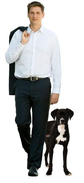 Manuel Diwosch mit Hund